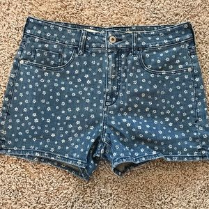 Pilcro and the Letterpress Jean Shorts Flower NWOT